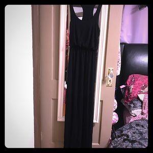 Black lush maxi dress
